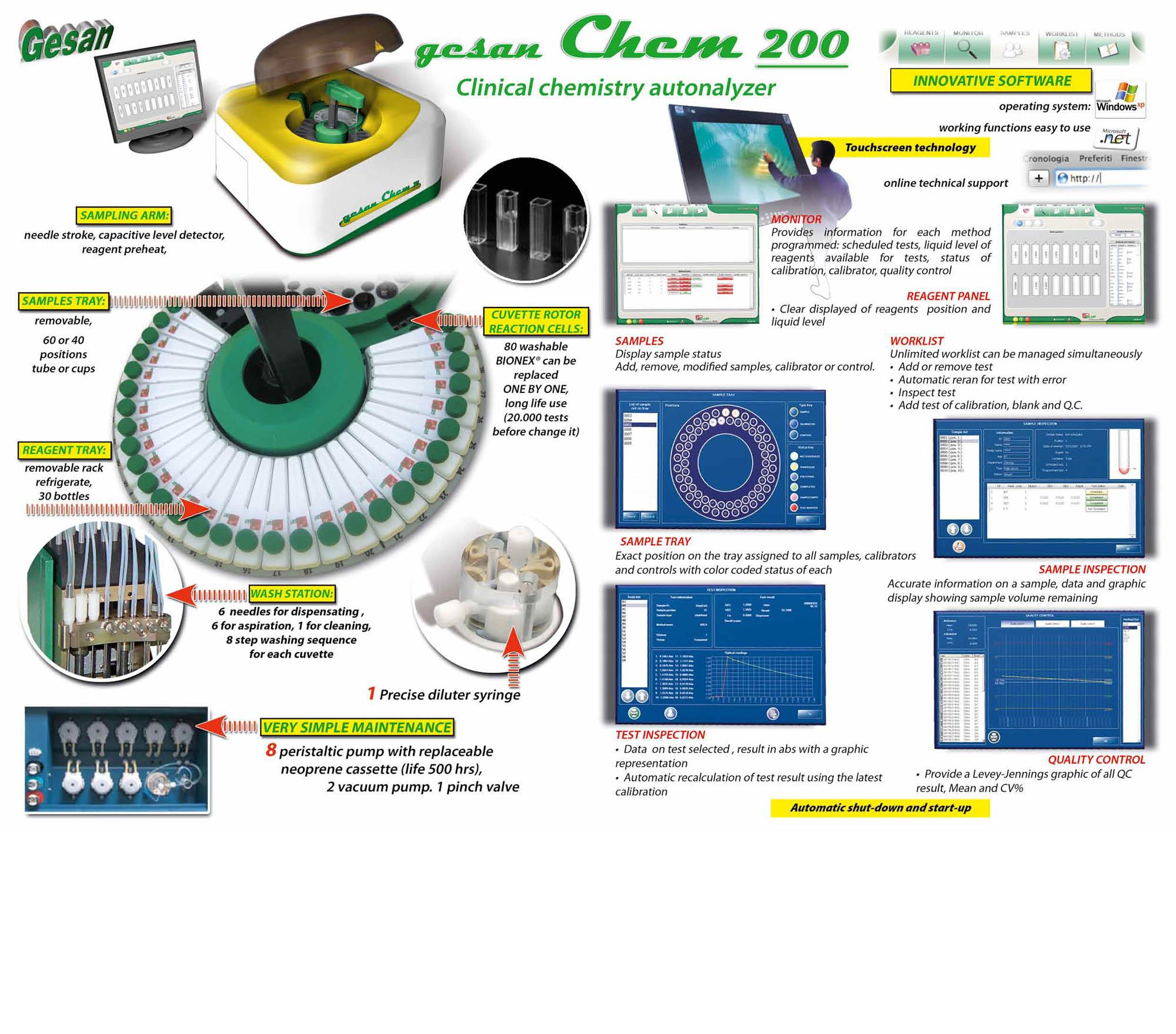 Clinical chemistry autonalyzer